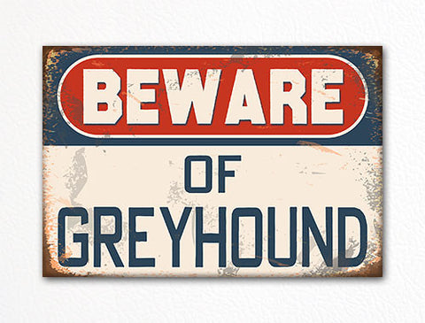 Beware of Greyhound Dog Breed Cute Fridge Magnet