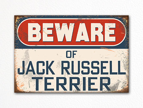 Beware of Jack Russell Terrier Dog Breed Cute Fridge Magnet