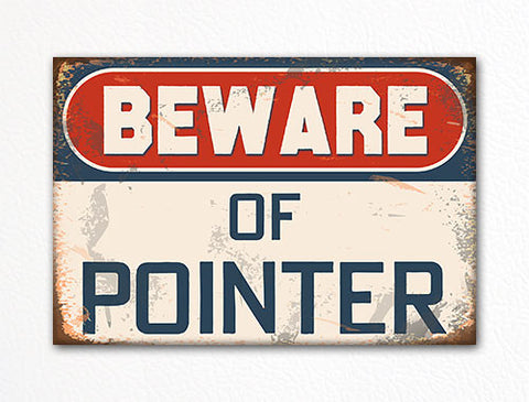 Beware of Pointer Dog Breed Cute Fridge Magnet
