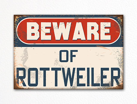 Beware of Rottweiler Dog Breed Cute Fridge Magnet