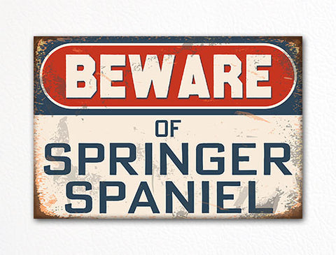 Beware of Springer Spaniel Dog Breed Cute Fridge Magnet
