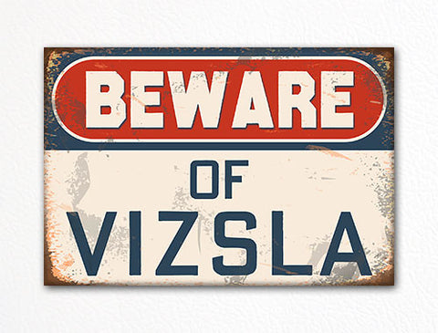 Beware of Vizsla Dog Breed Cute Fridge Magnet
