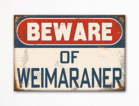 Beware of Weimaraner Dog Breed Cute Fridge Magnet