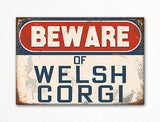 Beware of Welsh Corgi Dog Breed Cute Fridge Magnet