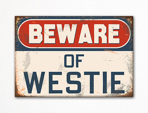 Beware of Westie Dog Breed Cute Fridge Magnet