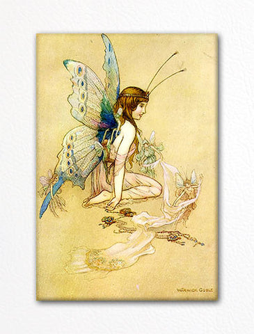 The Book of Fairy Poetry Illustration Warwick Goble Fridge Magnet