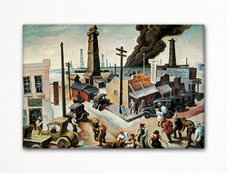 Boomtown Thomas Hart Benton Fridge Magnet