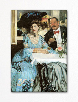 Chez Mouquin Painting Fridge Magnet