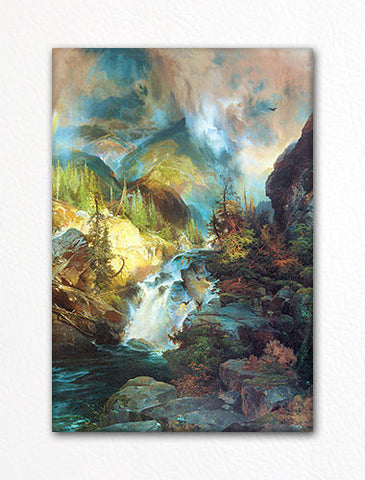 Children of the Mountain Painting Fridge Magnet