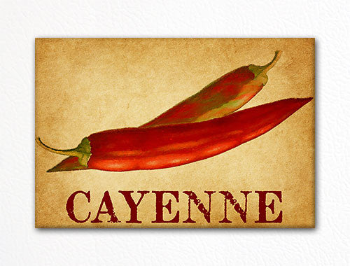 Cayenne Chili Peppers Decorative Kitchen Fridge Magnet
