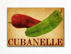 Cubanelle Chili Peppers Decorative Kitchen Fridge Magnet