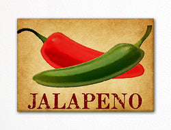 Jalapeno Chili Peppers Decorative Kitchen Fridge Magnet