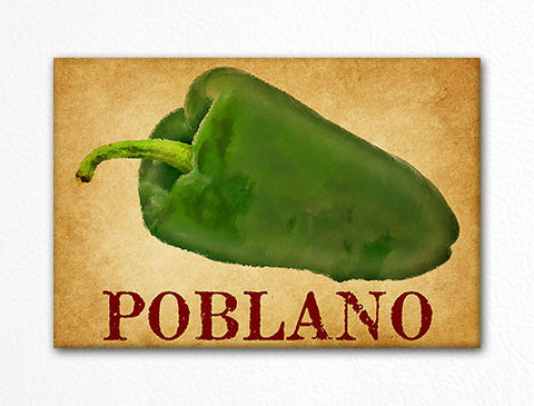 Poblano Chili Peppers Decorative Kitchen Fridge Magnet