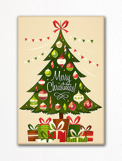 Christmas Tree Retro-Style Fridge Magnet