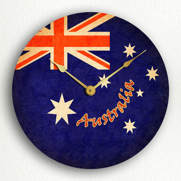"Flag of Australia Australian Flag 12"" Silent Wall Clock"