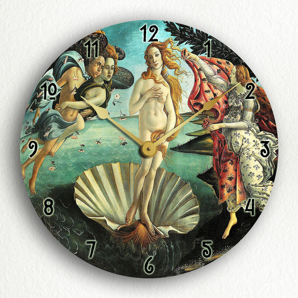 "Botticelli's The Birth of Venus 12"" Silent Wall Clock"