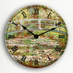 "Bridge Over a Pond of Water Lilies Monet 12"" Silent Wall Clock"