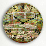 Bridge Over a Pond of Water Lilies Monet Silent Wall Clock