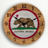 "California State Flag Traditional Western Style 12"" Silent Wall Clock"
