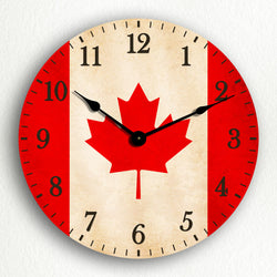 "Flag of Canada Canadian Flag 12"" Silent Wall Clock"