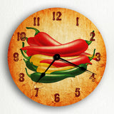 Southwestern Chili Peppers Silent Wall Clock