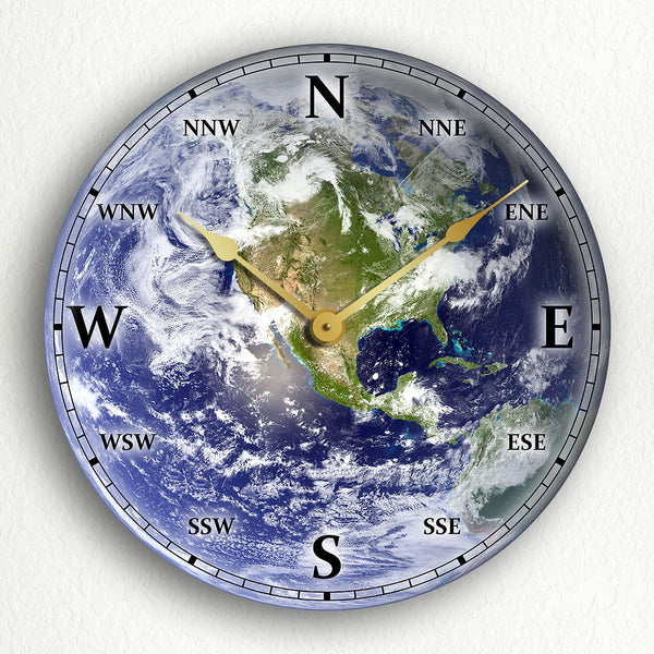 Earth Satellite Image Silent Wall Clock