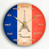Flag of France French Flag Silent Wall Clock