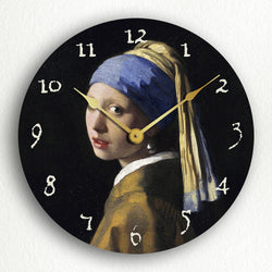 "Girl with a Pearl Earring Vermeer 12"" Silent Wall Clock"