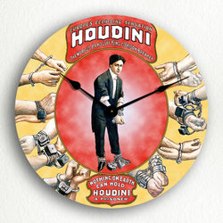 "Houdini Handcuff King Poster Artwork 12"" Silent Wall Clock"