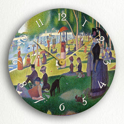 "Afternoon on the Island of La Grande Jatte by Seurat 12"" Silent Wall Clock"