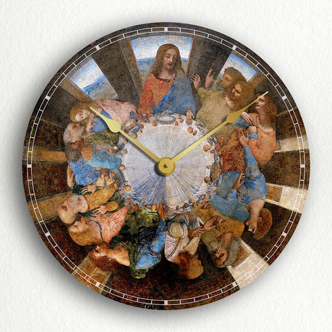 "The Last Supper Leonardo da Vinci 12"" Silent Wall Clock"