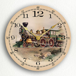 "Locomotive Cape Cod Central Railroad 12"" Silent Wall Clock"
