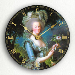"Marie Antoinette Classic Artwork 12"" Silent Wall Clock"