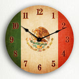 Flag of Mexico Mexican Flag Silent Wall Clock