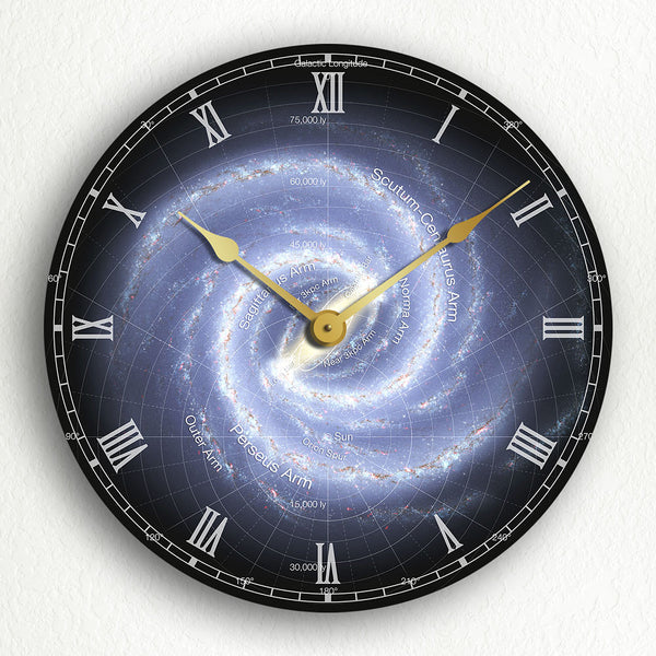 "Milky Way Galaxy 12"" Silent Wall Clock"