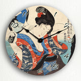 Shiro Toyokuni Utagawa Woodblock Silent Wall Clock