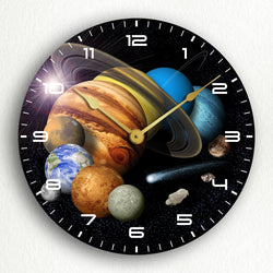 "Solar System Montage 12"" Silent Wall Clock"