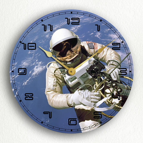 "Spacewalker Astronaut 12"" Silent Wall Clock"