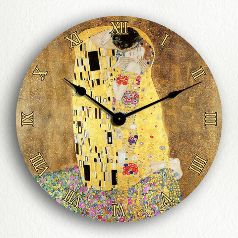 "The Kiss by Gustav Klimt 12"" Silent Wall Clock"