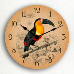 "Toucan Tropical Bird Theme 12"" Silent Wall Clock"