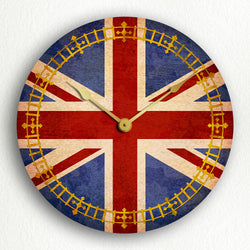 "United Kingdom UK Flag 12"" Silent Wall Clock"