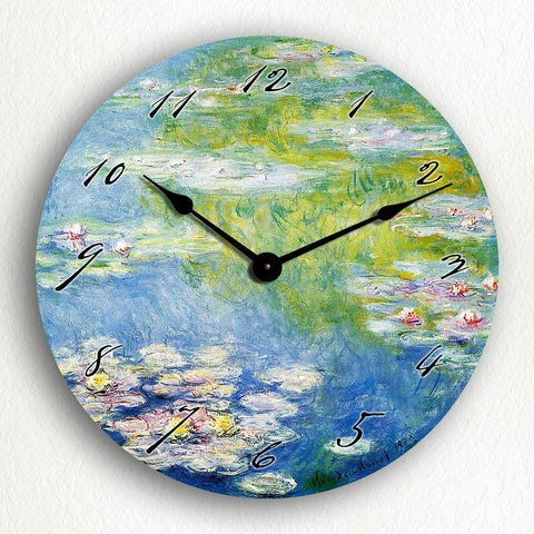 "Monet's 1908 Water Lilies 12"" Silent Wall Clock"