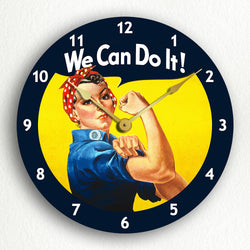 "We Can Do It Classic Poster Artwork 12"" Silent Wall Clock"