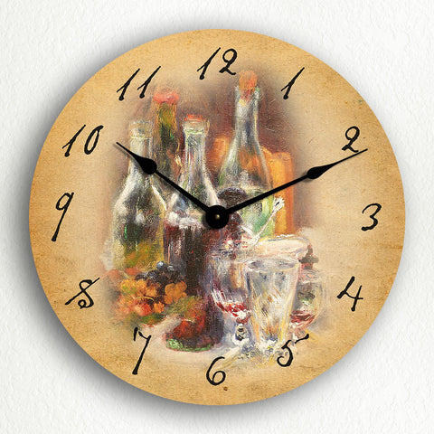 Wine Bottles Classic Artwork Silent Wall Clock
