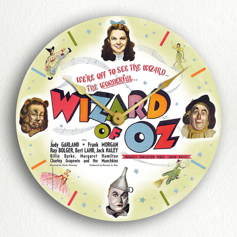 "Wizard of Oz Movie Poster Artwork 12"" Silent Wall Clock"