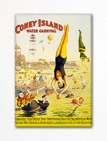 Coney Island Water Carnival Advertisement Fridge Magnet