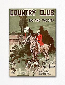 Country Club Rag Time Two-Step Sheet Music Cover Fridge Magnet