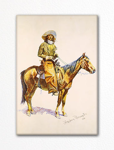 Cowboy on Horseback Frederic Remington Fridge Magnet