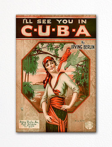 I'll See You in Cuba Sheet Music Cover Fridge Magnet