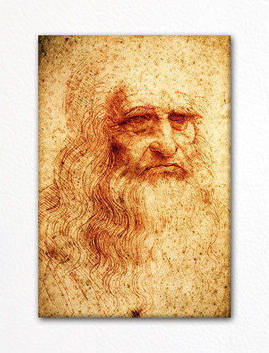 Self Portrait Leonardo da Vinci Fridge Magnet